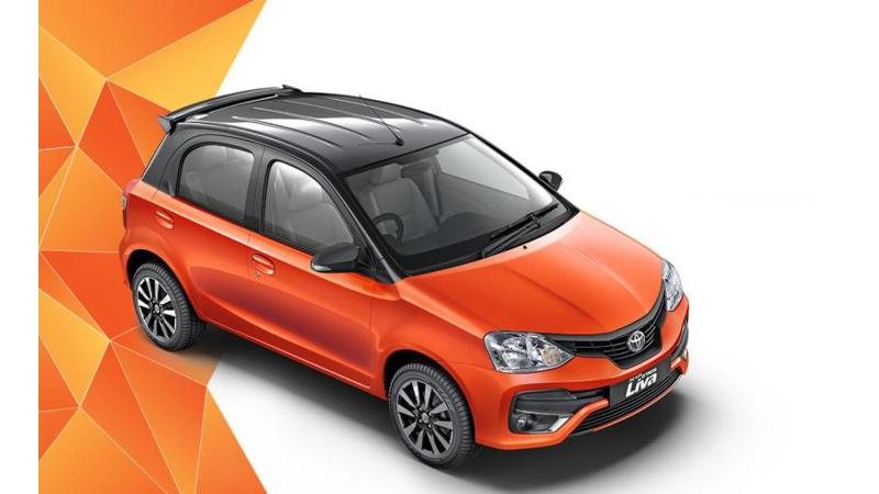 Toyota Etios Liva dual-tone gets an Inferno Orange Colour