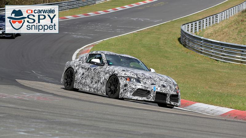Toyota Supra spied on the Nurburgring