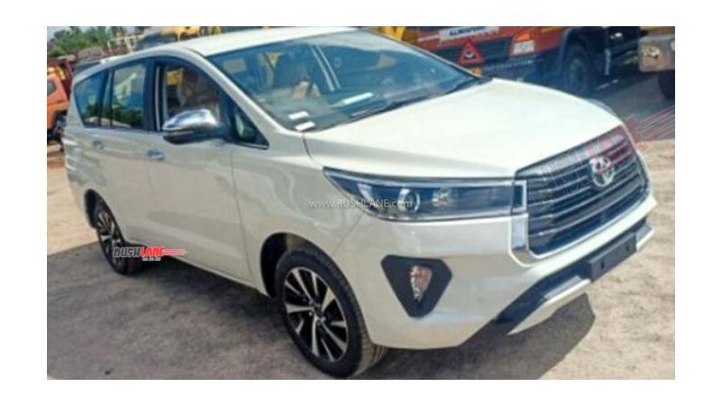 Toyota Innova Crysta Facelift reaches dealer stockyards ahead of India launch