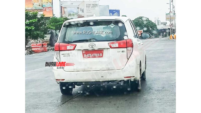 Toyota Innova Crysta CNG variant in the works; spied during public road test