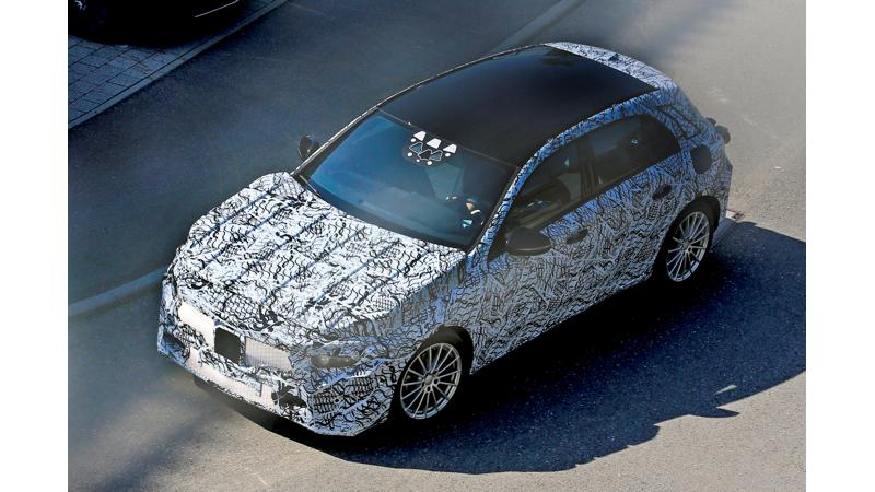Upcoming generation of Mercedes A-Class spotted on test