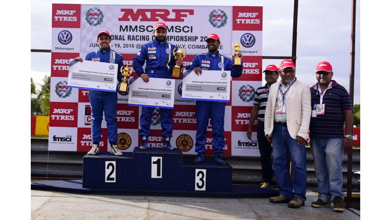 Ishan Dodhiwala and Karminder Pal Singh victorious at round 1 of 2016 VW Vento Cup