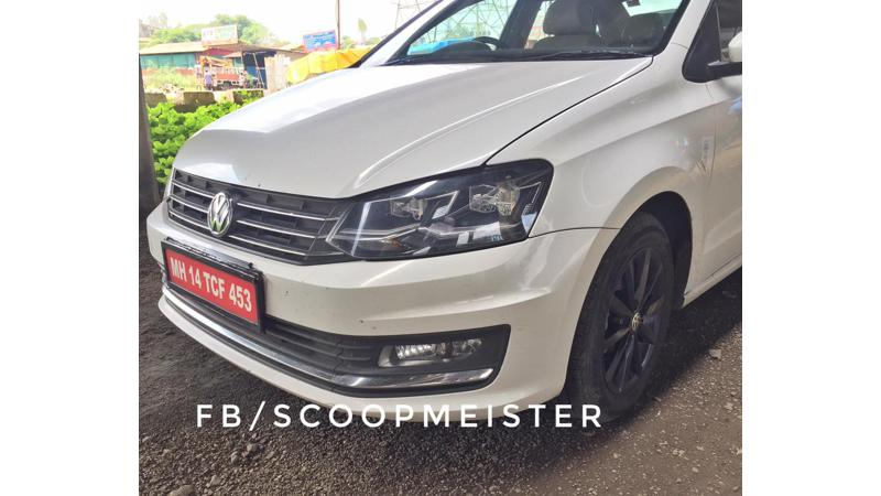 Volkswagen Vento spotted with new alloys and LED headlamps