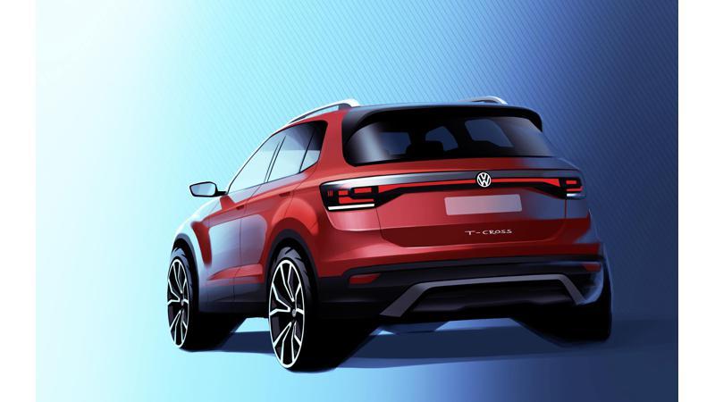 India-bound Volkswagen T-Cross teased in design sketch