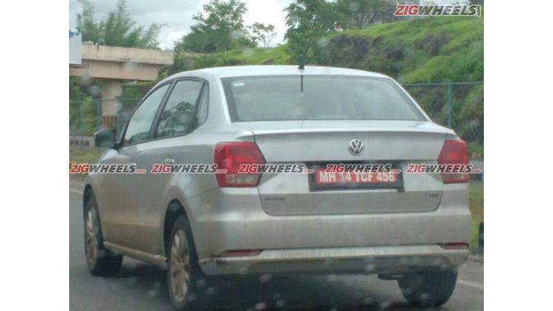 Volkswagen Ameo diesel spied