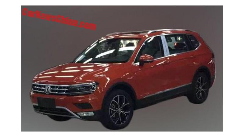 Long wheelbase Volkswagen Tiguan spotted on test in China