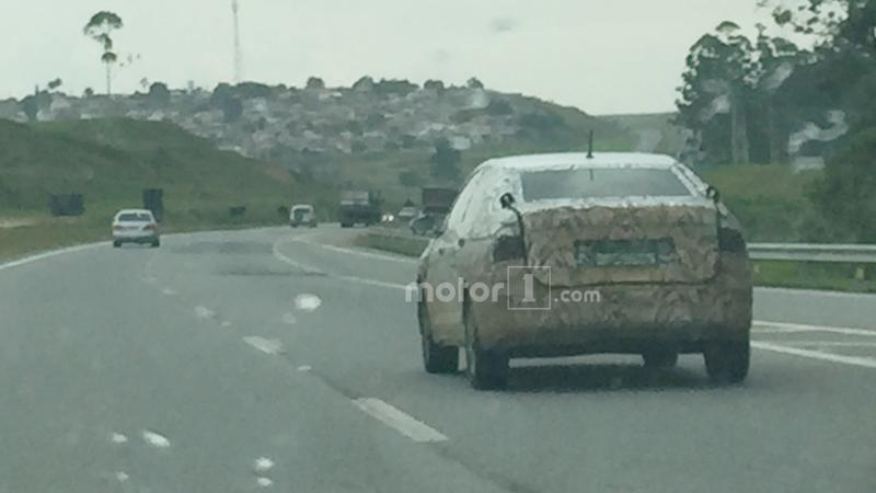 Camouflaged 2018 Volkswagen Vento spotted in Brazil