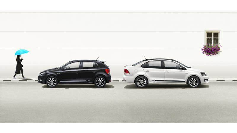 Volkswagen Polo, Ameo and Vento introduced in Black and White edition