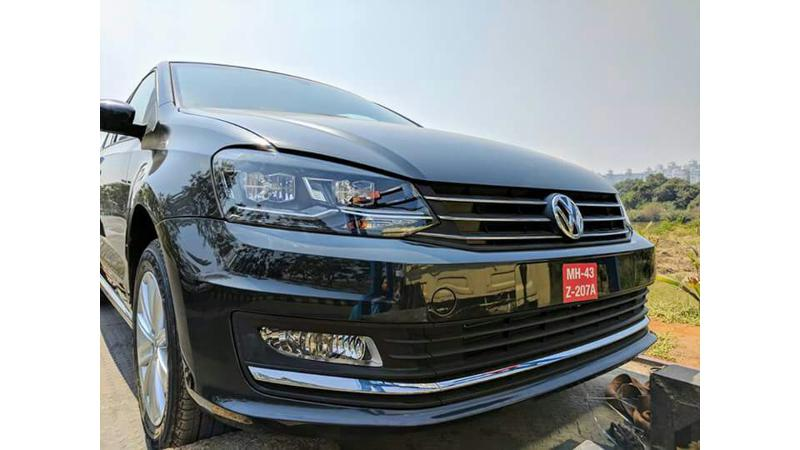 2017 VW Vento spotted with LED DRLs, launch soon
