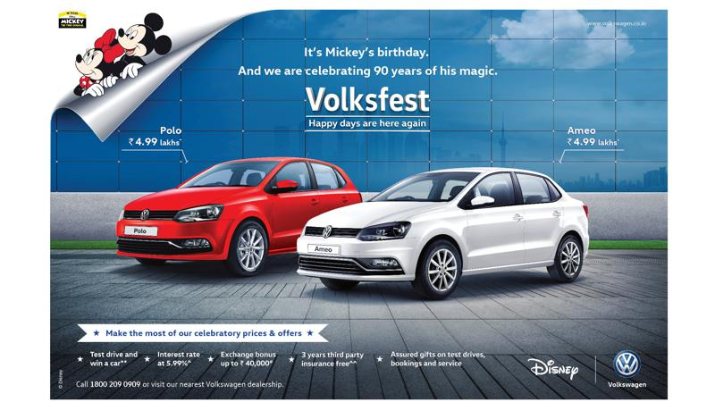 Volkswagen kicks off Volksfest 2018; celebrates 90 Years of Mickey Mouse Magic