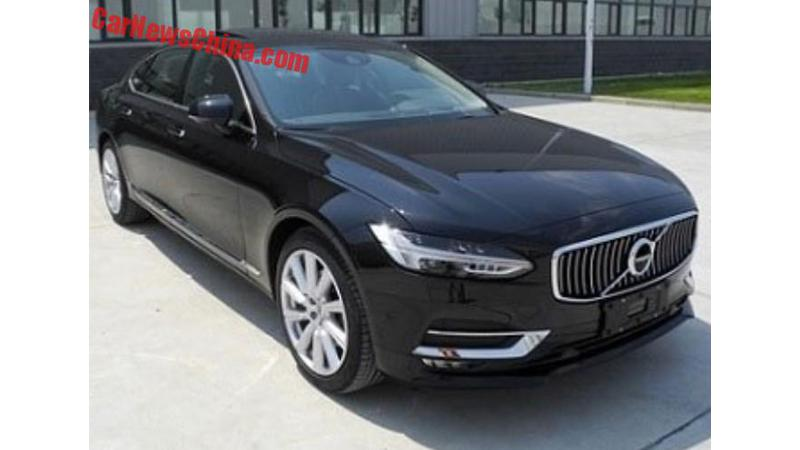 Volvo S90 L spotted in China ahead of official debut