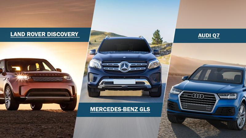 Comparison: Land Rover Discovery vs Mercedes-Benz GLS vs Audi Q7