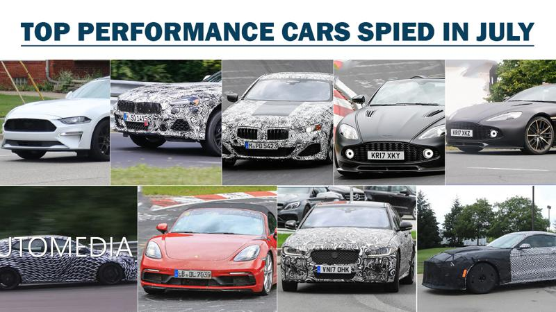 Top 6 performance cars spied in July