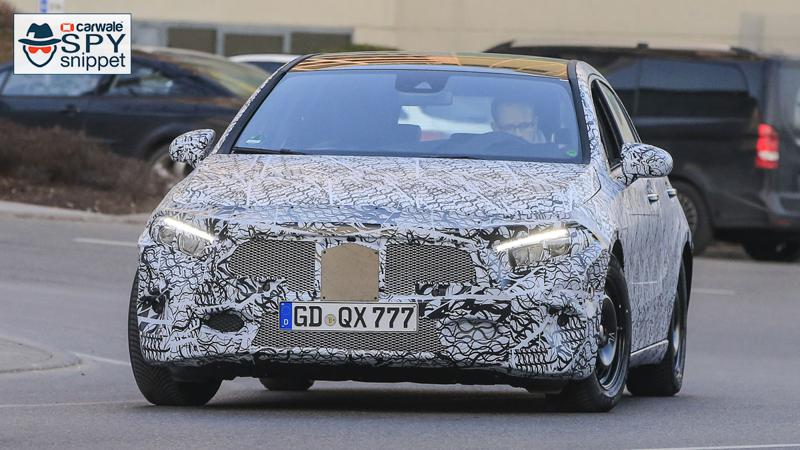 New-generation Mercedes-Benz A-Class spied testing