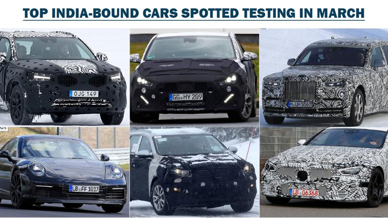 Top 10 India-bound cars spied last month