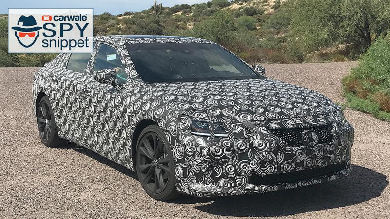 Lexus spotted testing the new-gen ES sedan