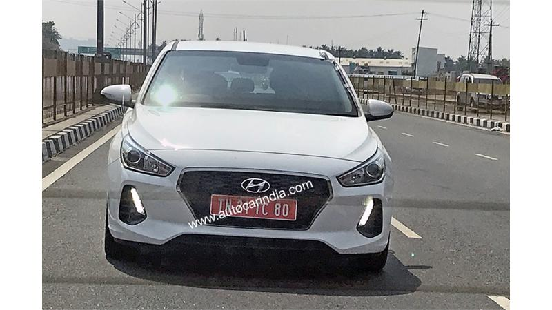 Hyundai i30 spotted testing on the Indian roads
