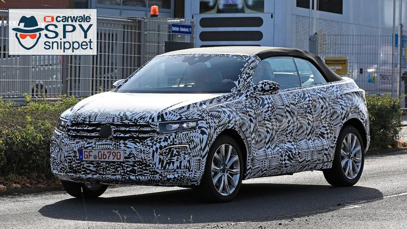 Convertible Volkswagen T-Cross spotted testing