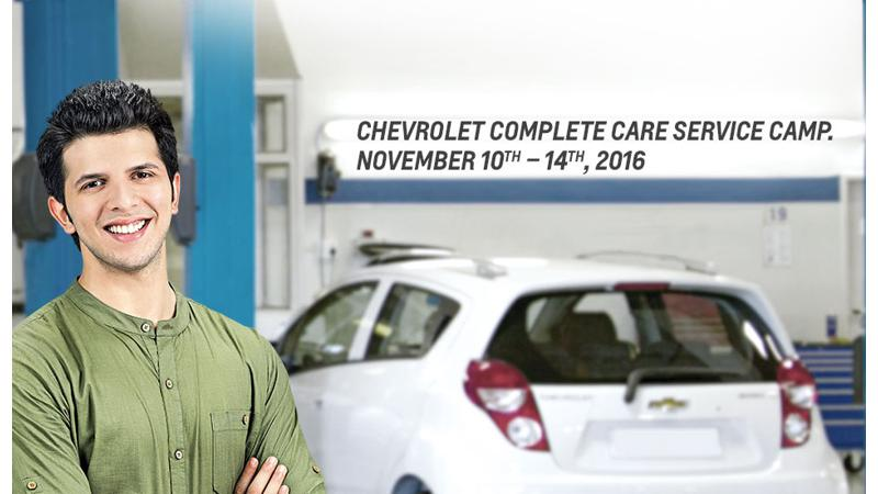 Chevrolet cars check-up camp scheduled from Nov 10-14