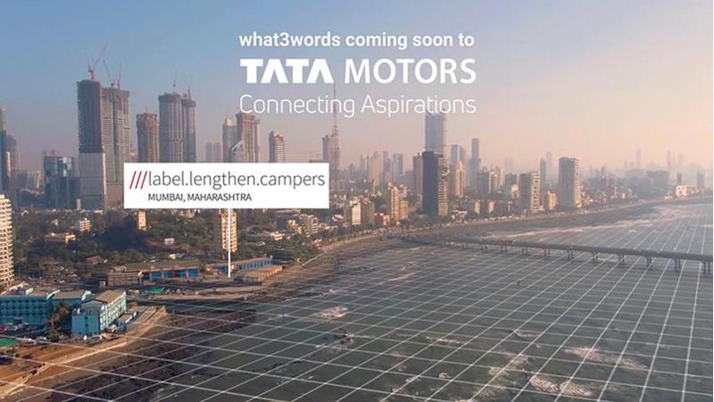 Future Tata Motors products to get what3words addressing system