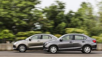 Honda Amaze CVT vs Maruti Suzuki Dzire AMT