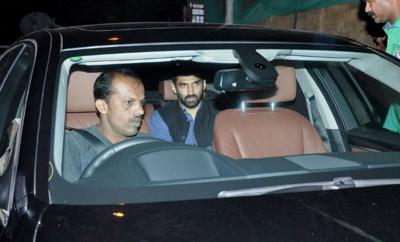 Aditya roy kapoor in his car