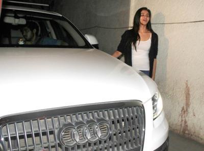Alia bhatt with her audi q5