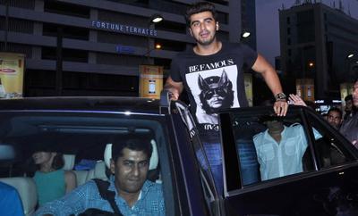 Arjun kapoor in his mercedes