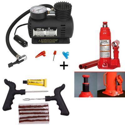 Car puncture repair kit