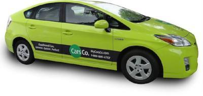 Chauffeured green car