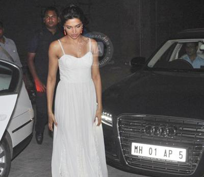 Deepika padukone and her audi car
