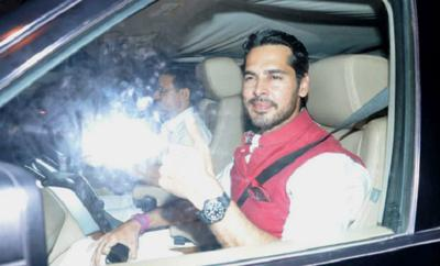 Dino morea in his car