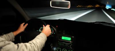 Driving in dark night