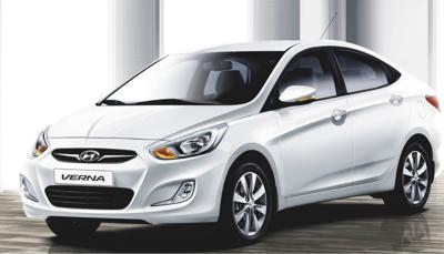10) Hyundai Verna Fluidic