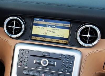 Infotainment in mercedes car