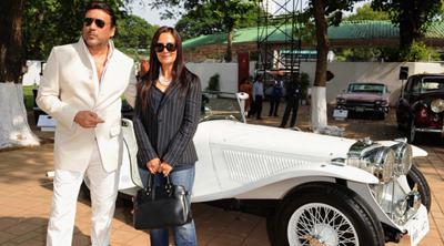 Jackie shroff with his car
