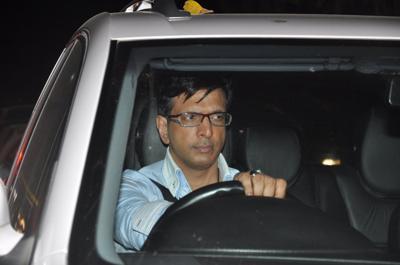 Javed Jaffery in his car