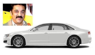 Kamal hassan and his audi a8 limousine