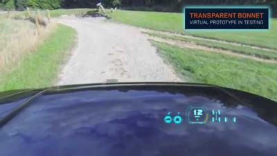 Land rovers invisible car technology - transparent bonnet
