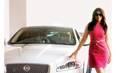 Parineeti chopra and her priceless jaguar