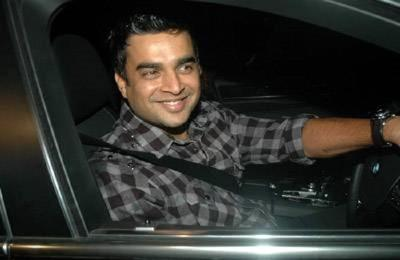 R madhavan in his car