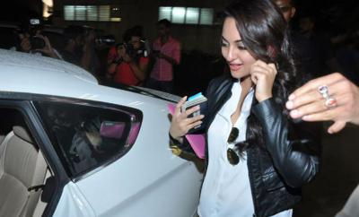 Sonakshi Sinha with her car