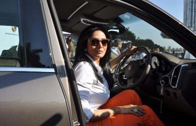 Sridevi in her car