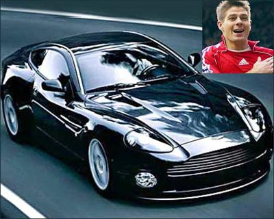 Steven gerrard and his car