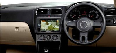 Television screens installed in the cars