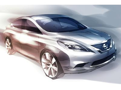 Nissan Unveils sketch of its New Global Sedan