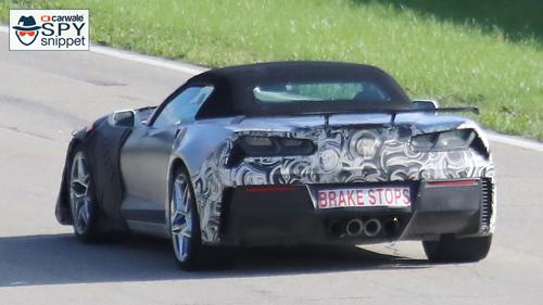 2018 Chevrolet Corvette ZR1 Convertible spotted