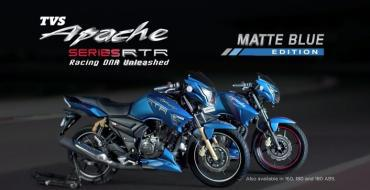 TVS Apache RTR Matte Blue Edition