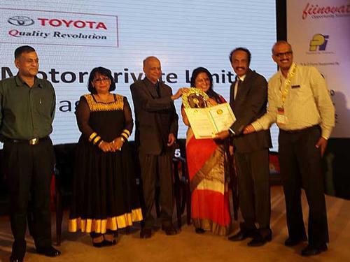 Toyota Kirloskar Motors Wins Golden Peacock Award