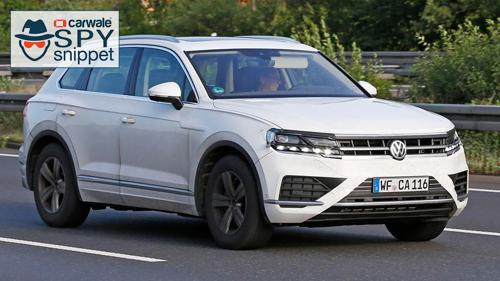 2018 Volkswagen Touareg spotted in Europe